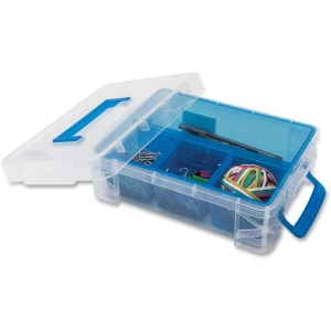 Advantus 4-compartment Plastic Supply Box
