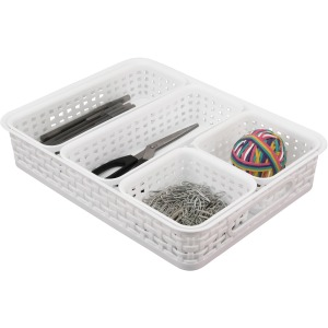 Advantus Plastic Weave Bin Set