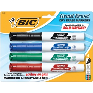BIC Great Erase Chisel Point Whiteboard Markers