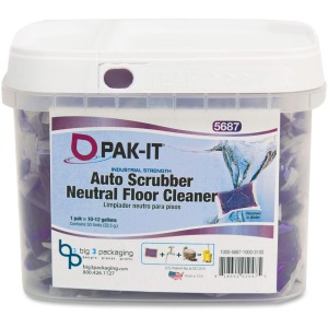 Big 3 Packaging Pak-It Auto Scrub Neutral Floor Cleaner