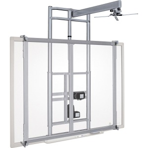 MooreCo iTeach Wall Mount for Whiteboard, Cart, Projector - Platinum