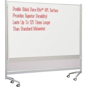 MooreCo Mobile Dry-erase Double-sided Partition