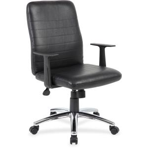 Lorell B431-BK Retro Task Chair with Black T-Arms