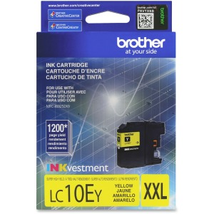 Brother Genuine LC10EY INKvestment Super High Yield Yellow Ink Cartridge