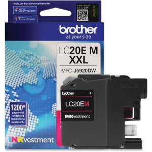Brother Genuine LC20EM INKvestment Super High Yield Magenta Ink Cartridge