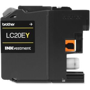 Brother Genuine LC20EY INKvestment Super High Yield Yellow Ink Cartridge