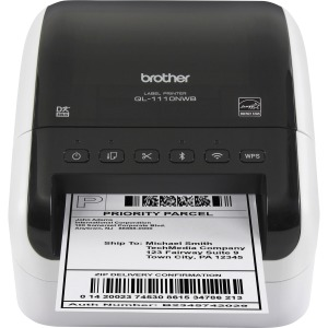 Brother QL-1110NWB Desktop Direct Thermal Printer - Monochrome - Label Print - Ethernet - USB - Bluetooth