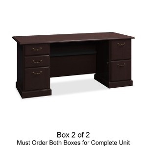 Bush Business Furniture Syndicate 72W Double Pedestal Desk Box 2 of 2