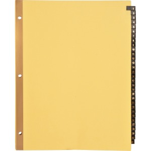 Business Source 1-31 Black Leather Tab Index Dividers