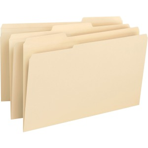 Business Source 1/3-cut 1-ply Tab File Folders