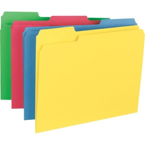 Business Source 1/3-cut Tab Heavyweight Color File Folders