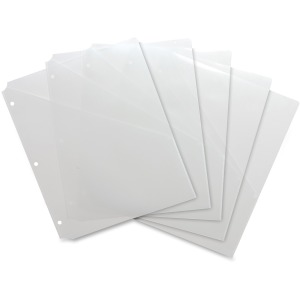 Business Source Poly Binder Pockets