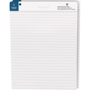"Business Source 25""x30"" Lined Self-stick Easel Pads"