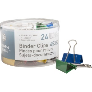 Business Source Colored Fold-back Binder Clips