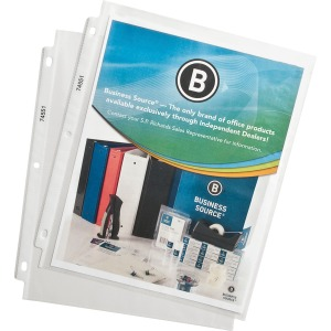 Business Source Top-Loading Poly Sheet Protectors