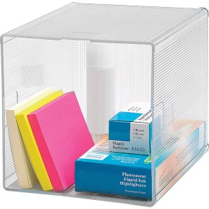 Business Source Clear Cube Storage Cube Organizer