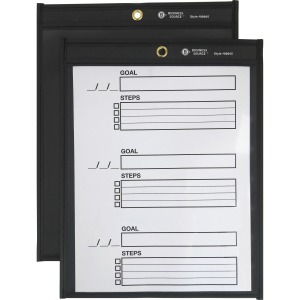 Business Source Black Backing Shop Ticket Holder