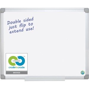 MasterVision Earth Silver Easy-Clean Dry-erase Board