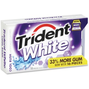 Trident Cool Rush White Sugar-free Gum
