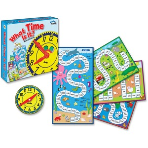 Carson Dellosa Education Grades K-3 What Time Is It Board Game