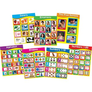 Carson Dellosa Education Early Childhood Learning Charlet Set