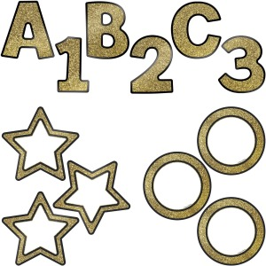 Carson-Dellosa Sparkle/Shine EZ Letter Colorful Cutout Set