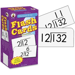 Carson Dellosa Education Grades 3-5 Division 0-12 Flash Cards