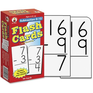 Carson Dellosa Education Grades 1-3 Subtraction 0-12 Flash Cards