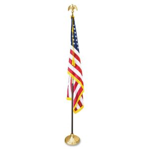 CF Flag U.S. Flag w/ Oak Flag Pole