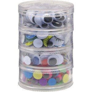 Creativity Street Wiggle Eyes Stackable Storage Jar
