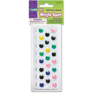 Creativity Street Multicolor Peel/Stick Wiggle Eyes