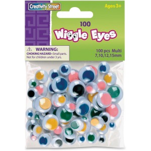 Creativity Street 100-piece Wiggle Eyes Assortment
