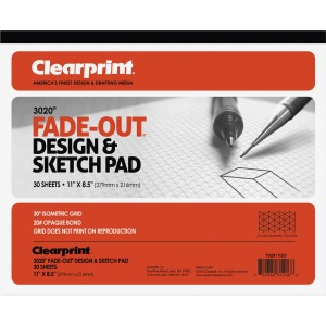 Clearprint Isometric Grid Paper Pad - Letter