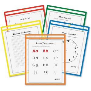 C-Line Reusable Dry Erase Pockets - Study Aid