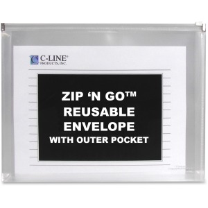 C-Line Zip 'N Go Reusable Poly Envelope with Outer Pocket