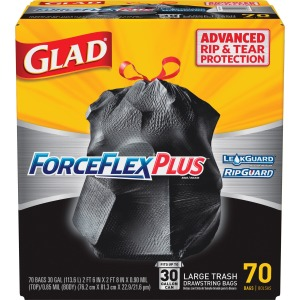 Glad ForceFlex Drawstring Large Trash Bags