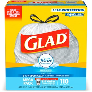 Glad Febreze Fresh 13-gal Kitchen Bags