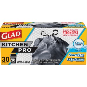 Glad ForceFlex KitchenPro Drawstring Bags