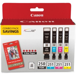 Canon PGI-250/CLI-251 Original Ink Cartridge/Paper Kit