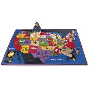 Carpets for Kids Discover America U.S. Map Area Rug