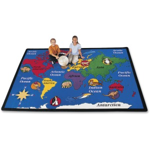 Carpets for Kids World Explorer Geography Area Rug