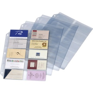 Cardinal Ring Binder Business Card Refill Sheets