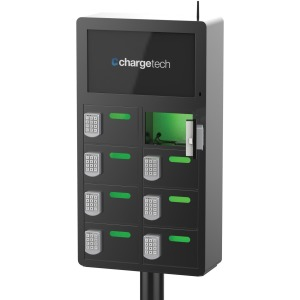 ChargeTech 8-bay Top Video Charging Locker