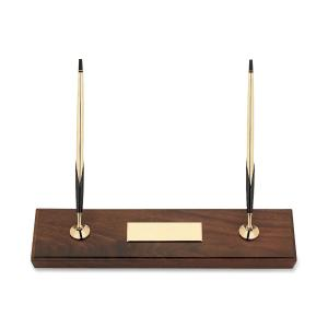 Cross Walnut Base Pen/Pencil Desk Set