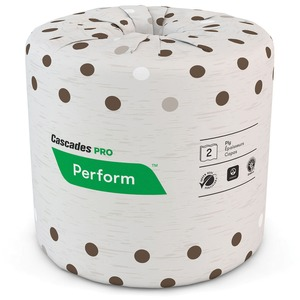 Cascades PRO Perform Standard Toilet Paper, Latte, 2 Ply, 400 Sheets (B400)