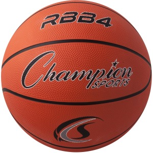 Champion Sports Intermediate Rubber Basketball Orange