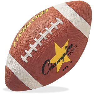 Champion Sports Intermediate Rubber Football