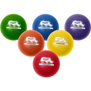 Champion Sports 8 Inch Rhino Skin Low Bounce Dodgeball Set