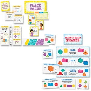 Creative Teaching Press Place Value/Shapes Bulletin Board Sets