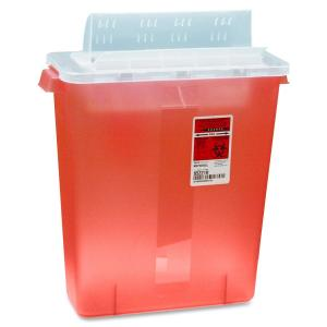 Covidien Transparent Red Sharps Container